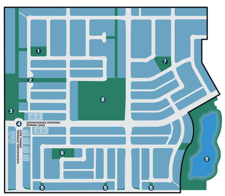 Master marketing map of Lanark Landing