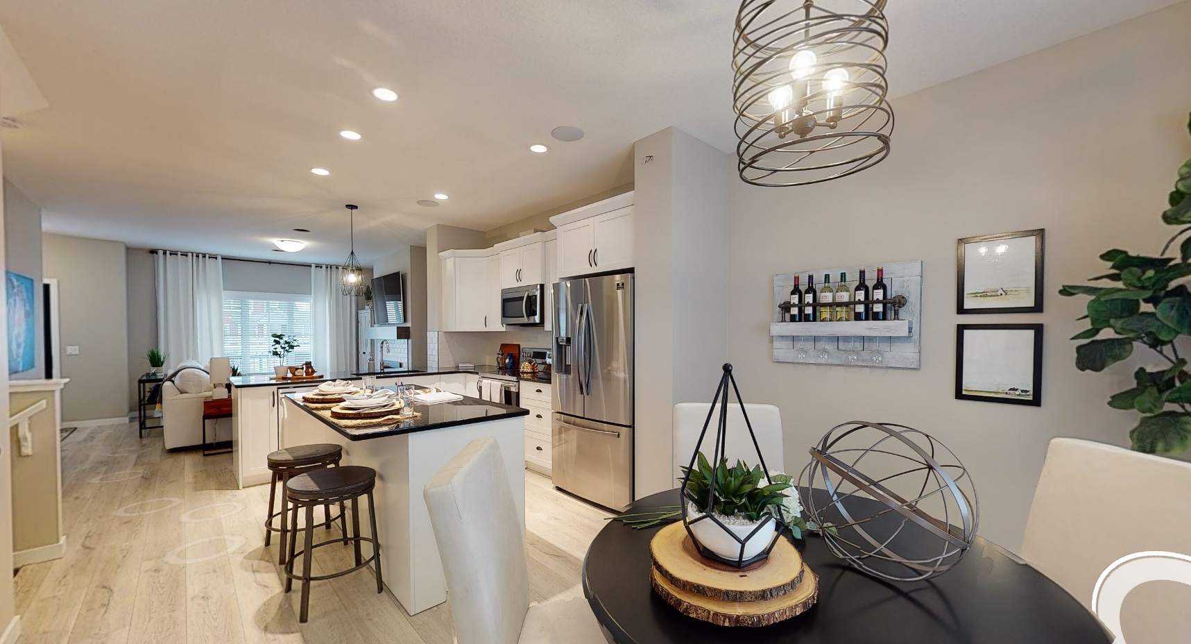 Showhome photo showing dining and kitchen area